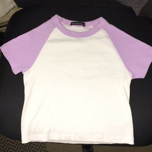 Brandy Melville Ribbed cropped shirt